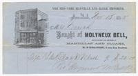 Molyneux Bell, bill or receipt