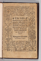 Boke of measurying of lande as well of woodland as plowland, & pasture in the feelde: & to compt the true nombre of acres of the same.  Title page