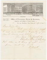 Pangborn, Davis & Haydens, letter