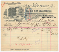 John Crotty, bill or receipt