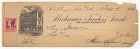 Mechanics & Traders Bank, bill or receipt