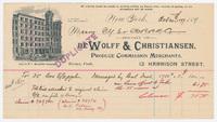De Wolff & Christiansen, bill or receipt