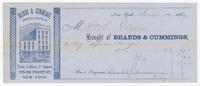 Beards & Cummings, bill or receipt