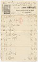Lathrop, Ludington & Co., bill or receipt
