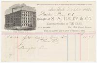 S.A. Ilsley & Co., bill or receipt