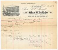 Silas W. Driggs, bill or receipt