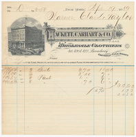 Hackett, Carhart & Co., bill or receipt