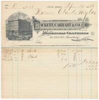 Hackett, Carhart & Co., bill or receipt