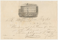 Lafarge House. Bill or receipt