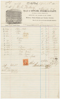 Butler, Broome & Clapp, bill or receipt
