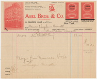 Abel Bros. & Co. Bill or receipt