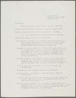 Letter from Ulysses Kay to George Irwin regarding commissions, page 1
