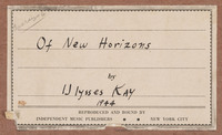 Of New Horizons, cover, label