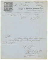 Phelps, Dodge & Co., bill or receipt