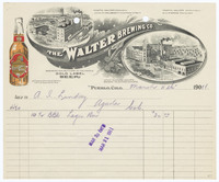 Walter Brewing Co. Recto of bill
