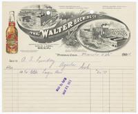 Walter Brewing Co. Recto of bill