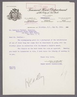 Letter from WM H Abbott to Lawrence Veiller