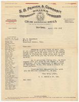 S. B. Penick & Company, letter