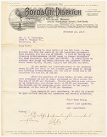 Boyd's City Dispatch, letter