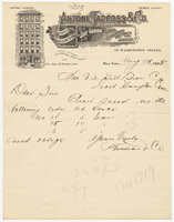 Antoni Tadross & Co., letter