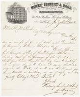 Henry Seibert & Bros., letter
