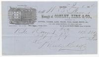 Conley, Kirk & Co., bill or receipt