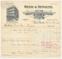 Reed & Hewlett, bill or receipt