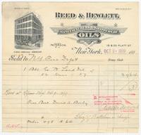 Reed & Hewlett, bill or receipt