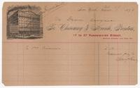 Cherouny & Kienle, Printers, bill or receipt