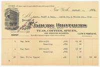 Jaburg Brothers. Bill or receipt