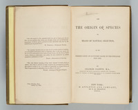 On the origin of species by means of natural selection, or The preservation of favoured races in the struggle for life. Title page