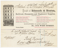 Edmonds & Benton, bill or receipt
