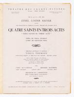 Quatre Saints En Trois Actes : Title page