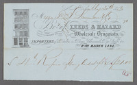 Leeds & Hazard, Wholesale Druggists, No. 121 Maiden Lane. Recto of bill/receipt