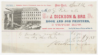 J. Dickson & Bro., bill or receipt