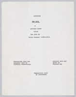 Boor: libretto, title page