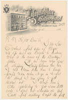 Lafayette Place Baths and Hotel. Letter