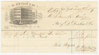 D. Devlin & Company, bill or receipt
