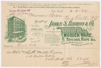 James S. Barron & Co., bill or receipt