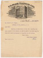 Elsas Paper Co., letter