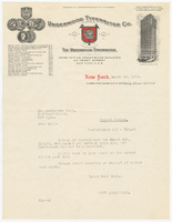 Underwood Typewriter Co., letter