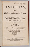 Leviathan, or, The matter, forme, & power of a common-wealth ecclesiasticall and civill. Title page
