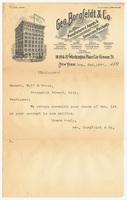 Geo. Borgfeldt & Co., letter