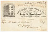 Rosin Oil Manufacturers, bill or receipt