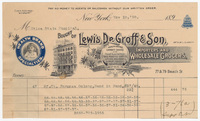 Lewis DeGroff & Son Wholesale Grocers, bill or receipt