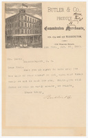 Butler & Co., letter