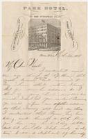Park Hotel. Letter