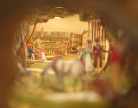 Areaorama : a view in the Regents Park. View through peep show