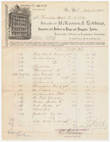McKesson & Robbins, bill or receipt