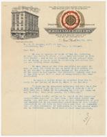 Edward D. Depew & Co., letter
